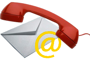 Contact Us image of a phone and envelope